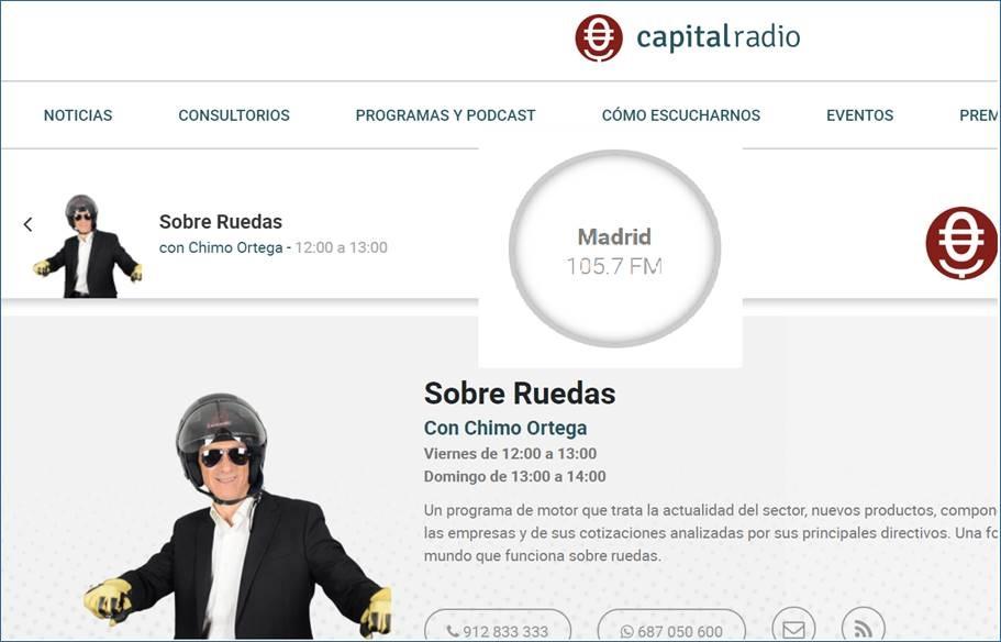 Capital Radio, entrevista a Miguel A. Ochoa