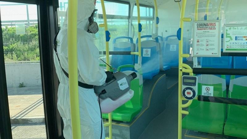 Limpieza de autobuses Fundacion Corell