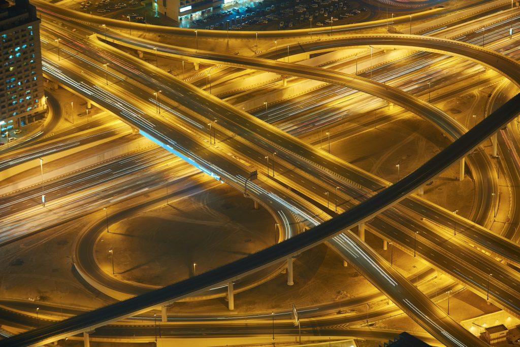 Dubai night skylin